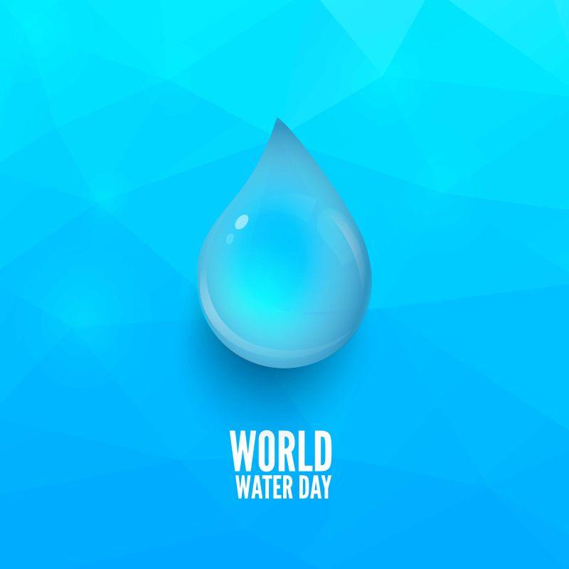 矢量的蓝色水滴背景