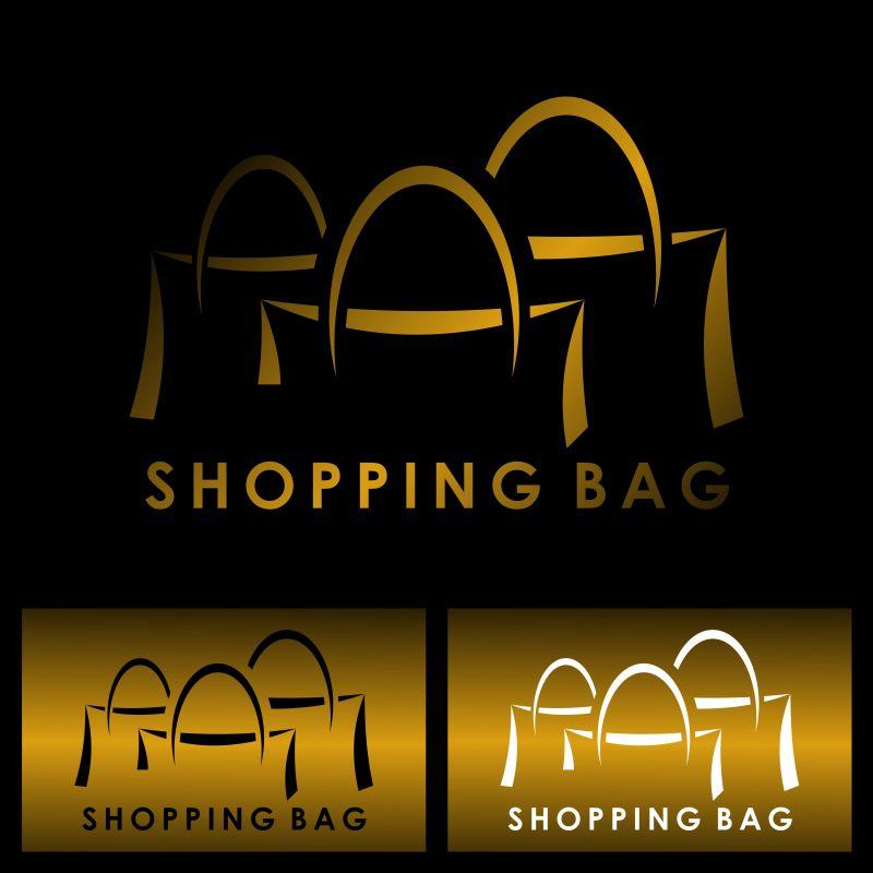 矢量购物袋logo设计