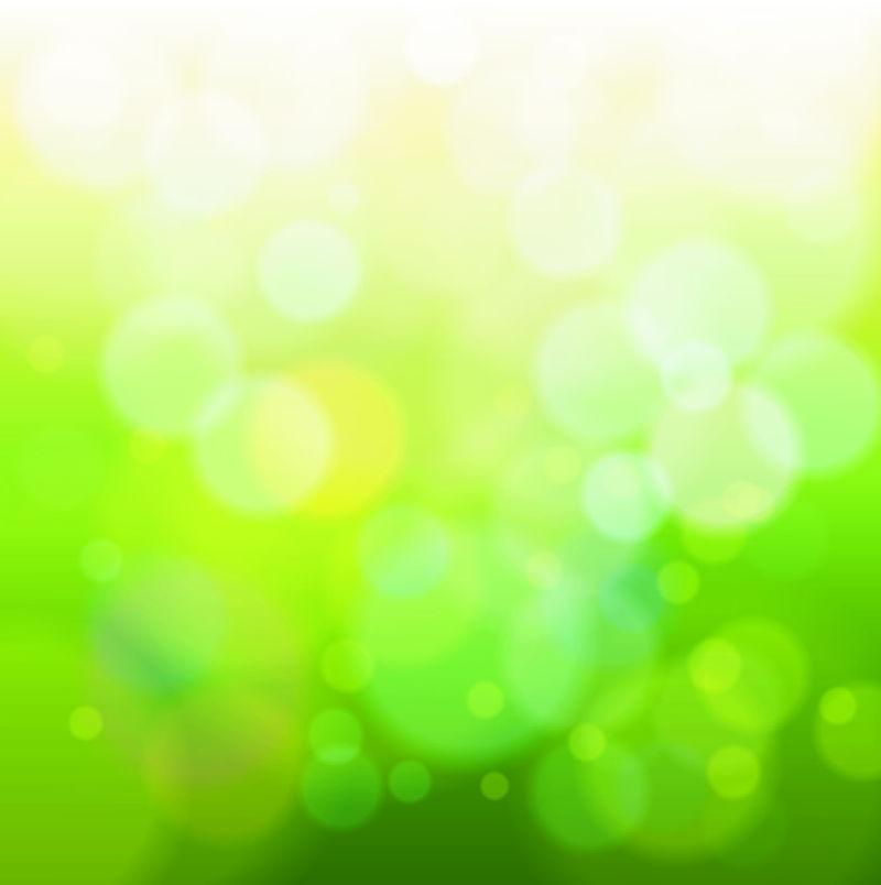 创意矢量绿色光芒背景