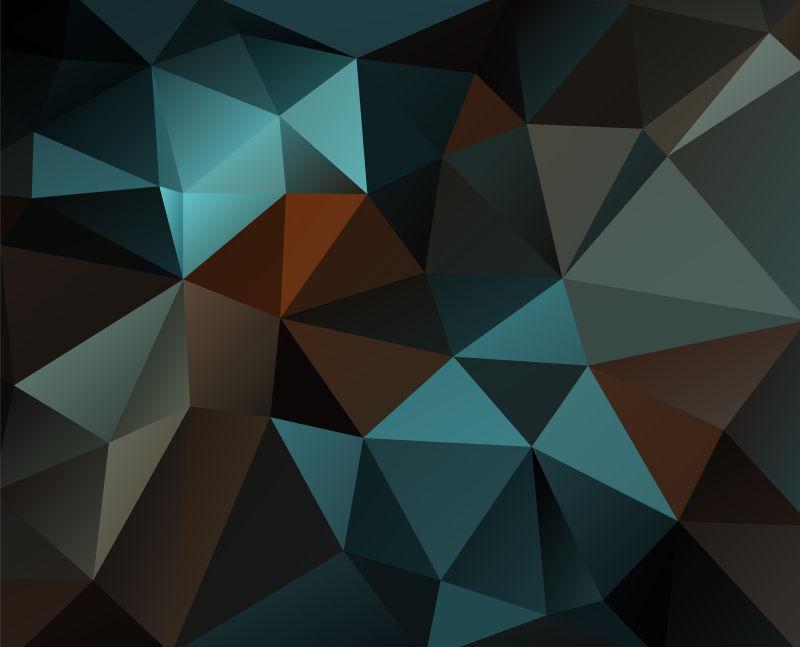 矢量抽象立体几何三角背景