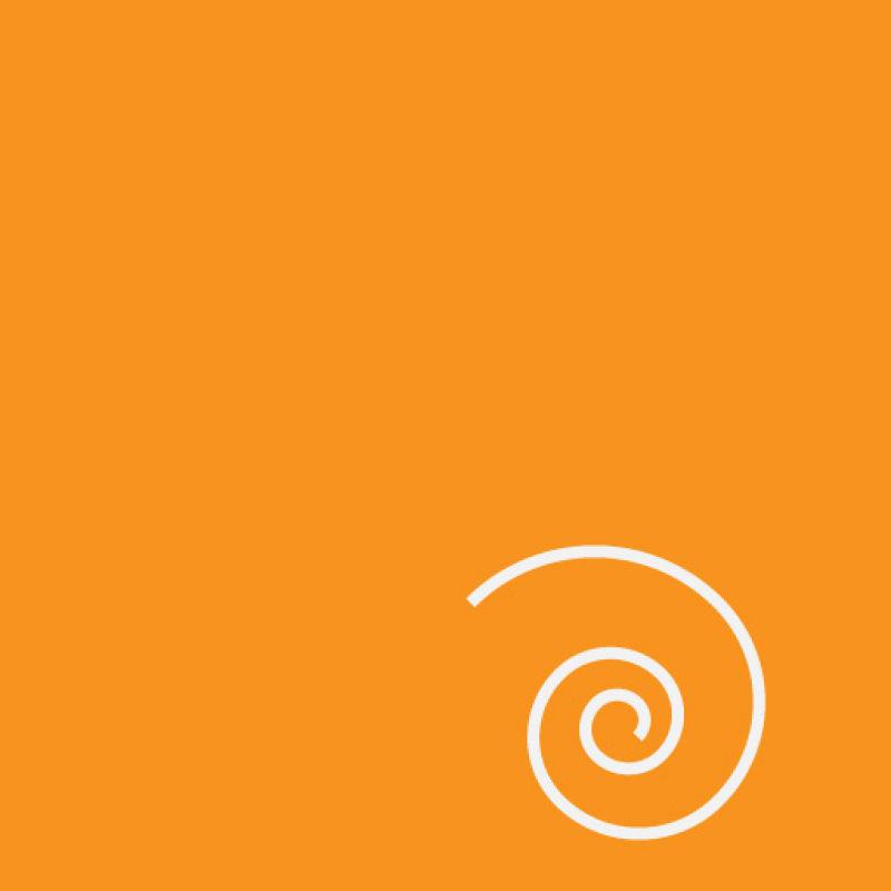 曲线元素的抽象橙色背景