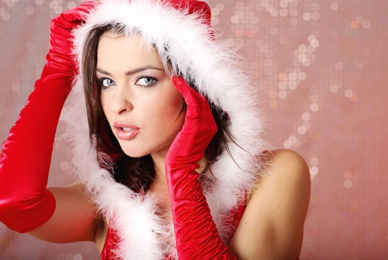 非常性感圣诞美女