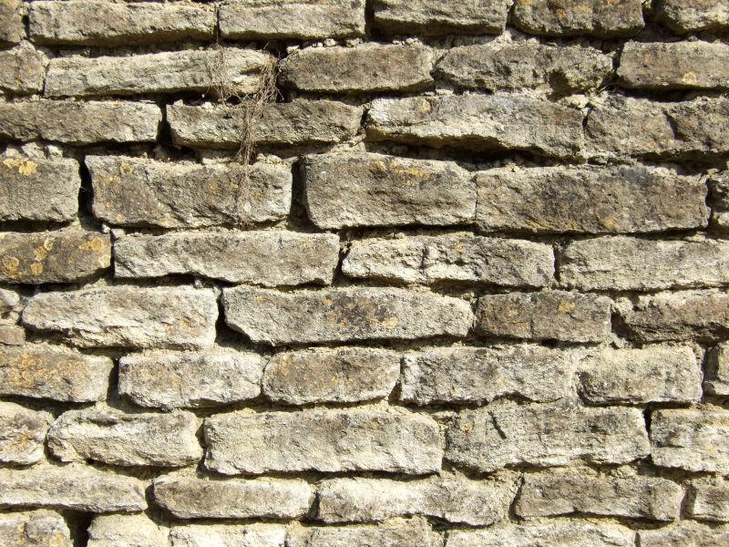 农村的旧砖墙背景