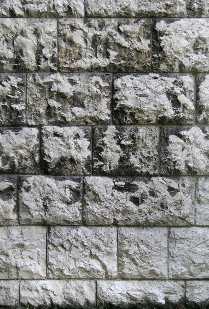 四四方方的石头砖墙背景