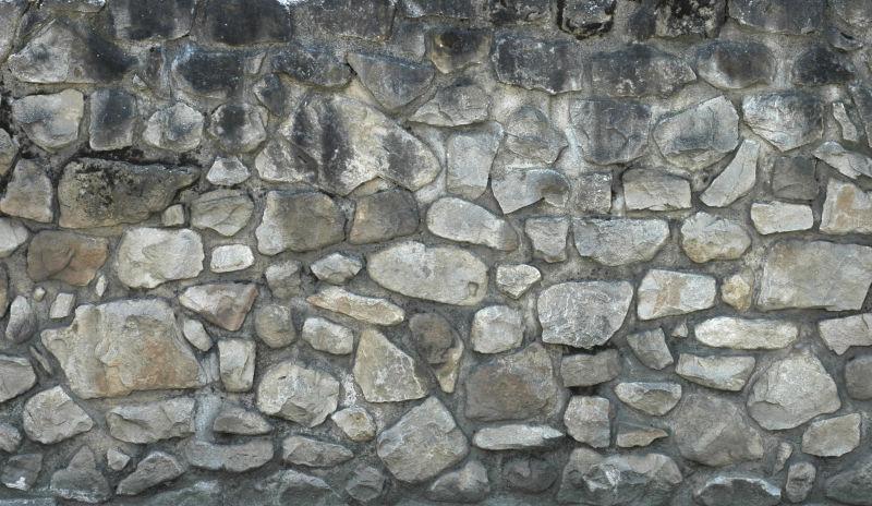 不规则石墙纹理背景