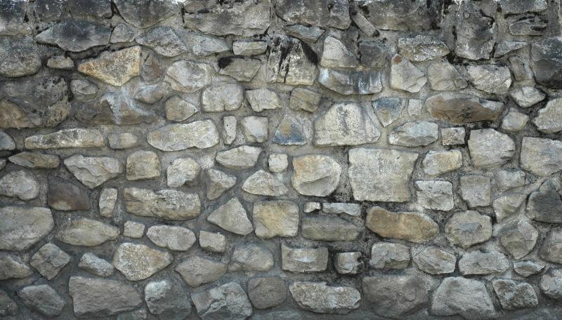 石子墙背景