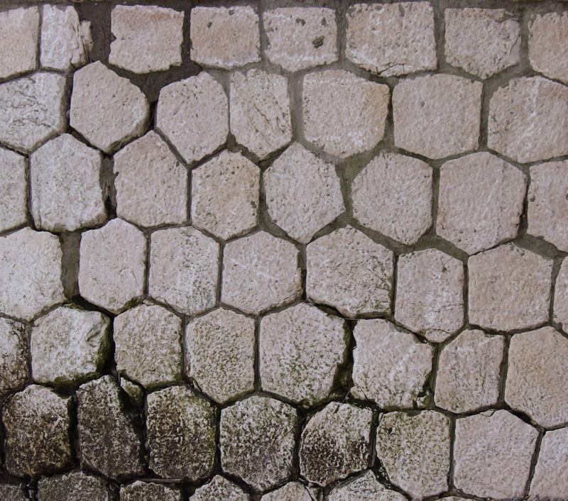块状地石墙背景