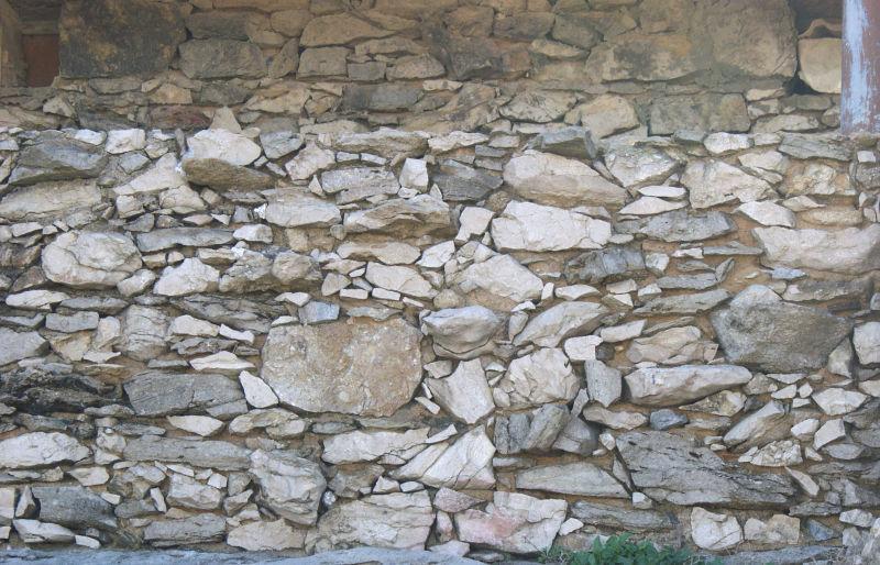 杂乱的石头墙背景