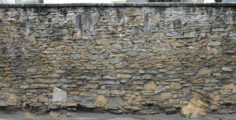 古老的土石头墙背景