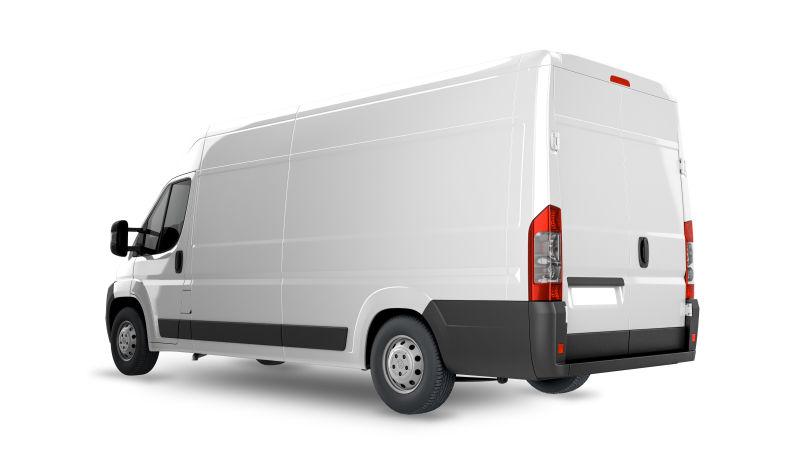 白色货车模型