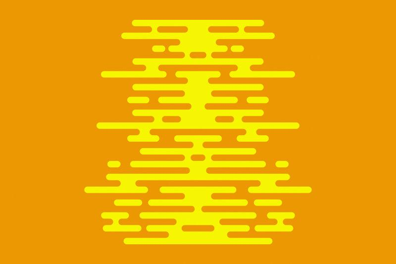 现代平面黄色背景