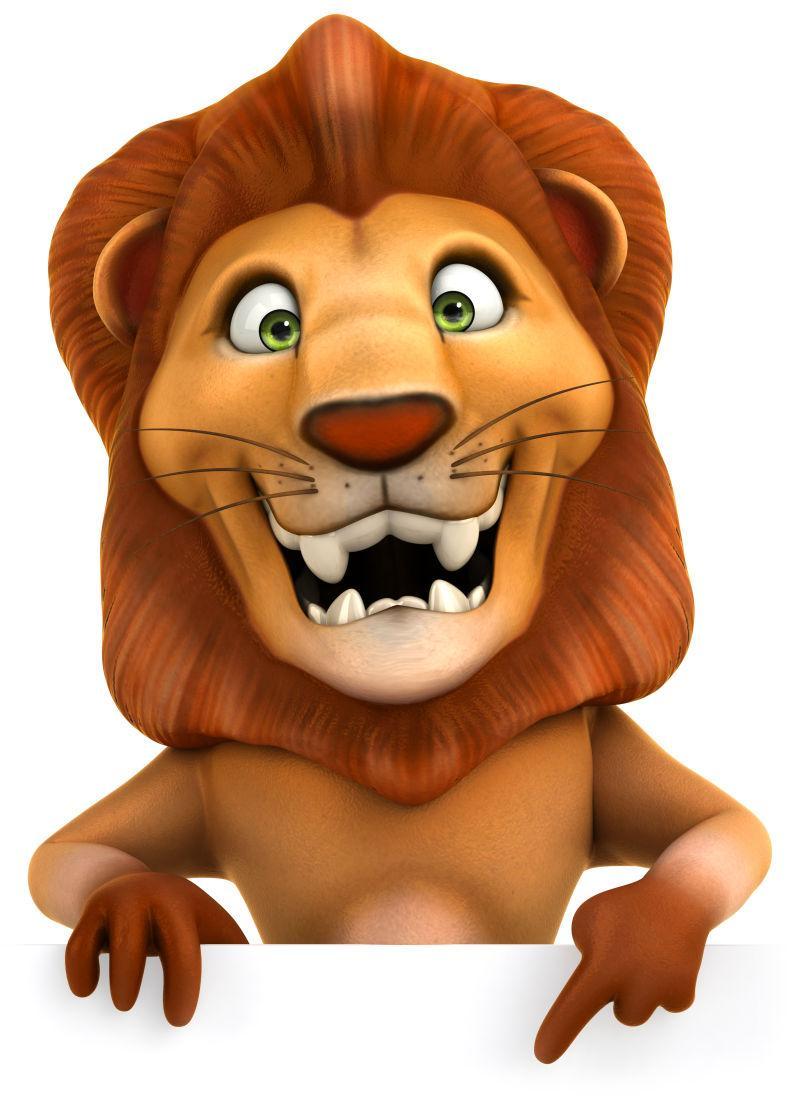 3D卡通狮子