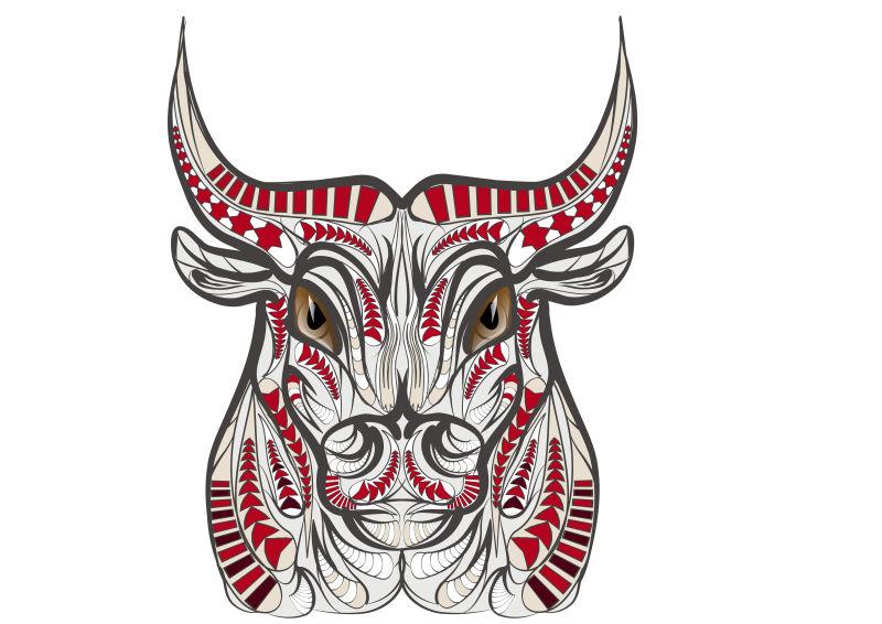 矢量彩色西班牙公牛