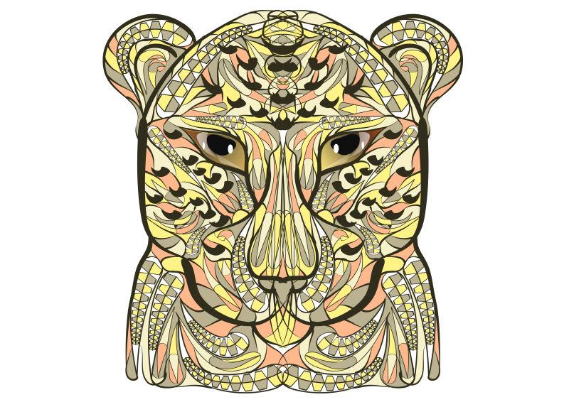 矢量彩色豹的头