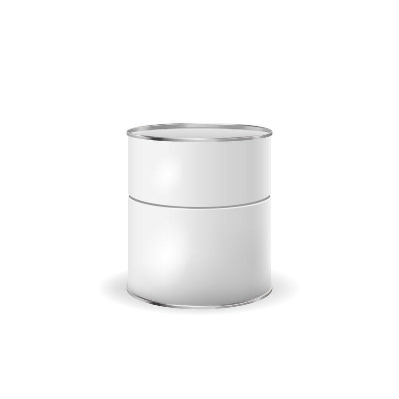 矢量白色锡盒包装容器
