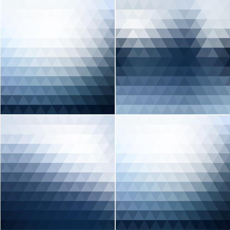 矢量的抽象三角图案背景设计