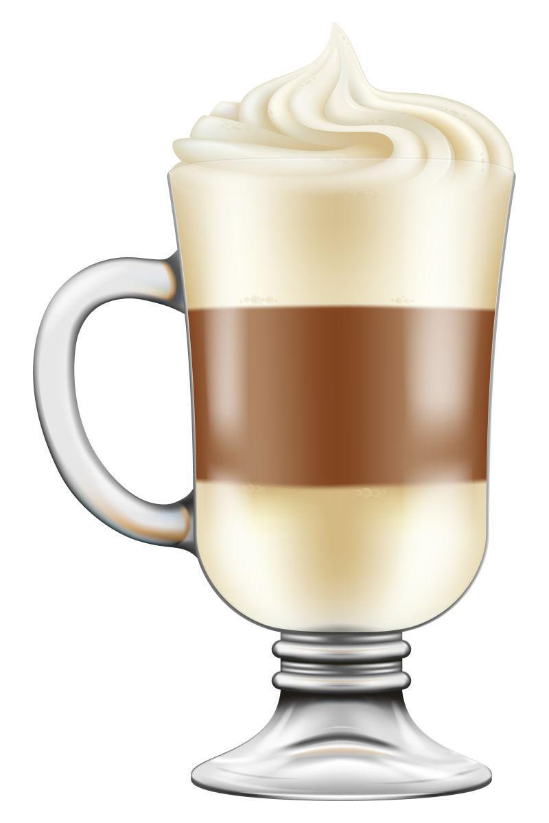 矢量卡布奇诺拿铁咖啡