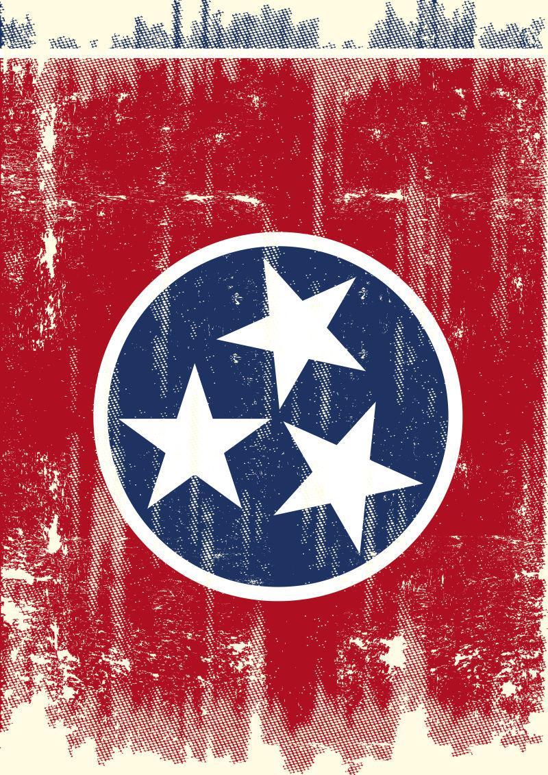 矢量田纳西州国旗