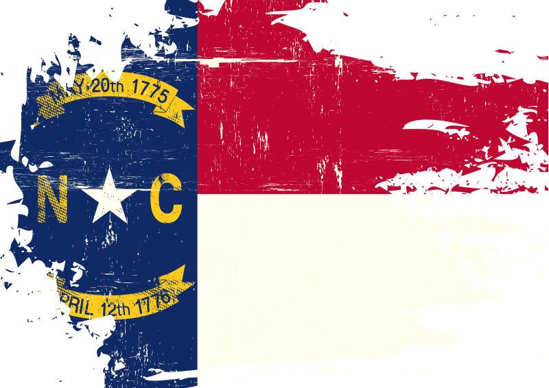 矢量北卡罗莱纳国旗