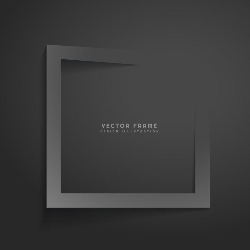 抽象黑色边框背景矢量设计