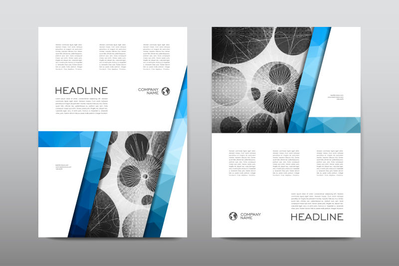创意圆圈宣传册设计矢量图