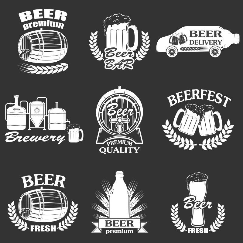 矢量酿造工艺啤酒设计