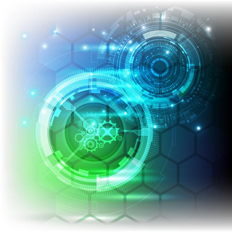 抽象的未来技术背景矢量设计