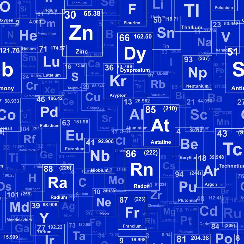 矢量元素周期表图片素材 矢量抽象元素周期表插画 Jpg格式 未来素材下载