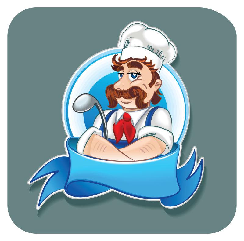 创意矢量卡通厨师插图