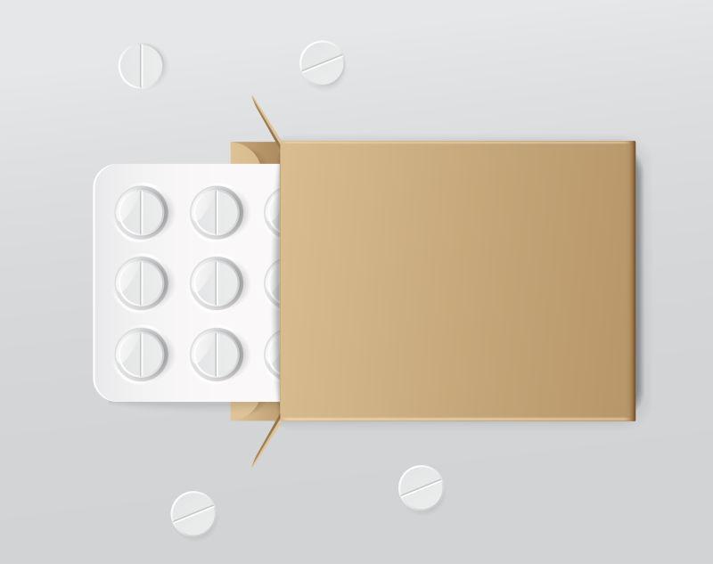 矢量泡罩包装中的药丸