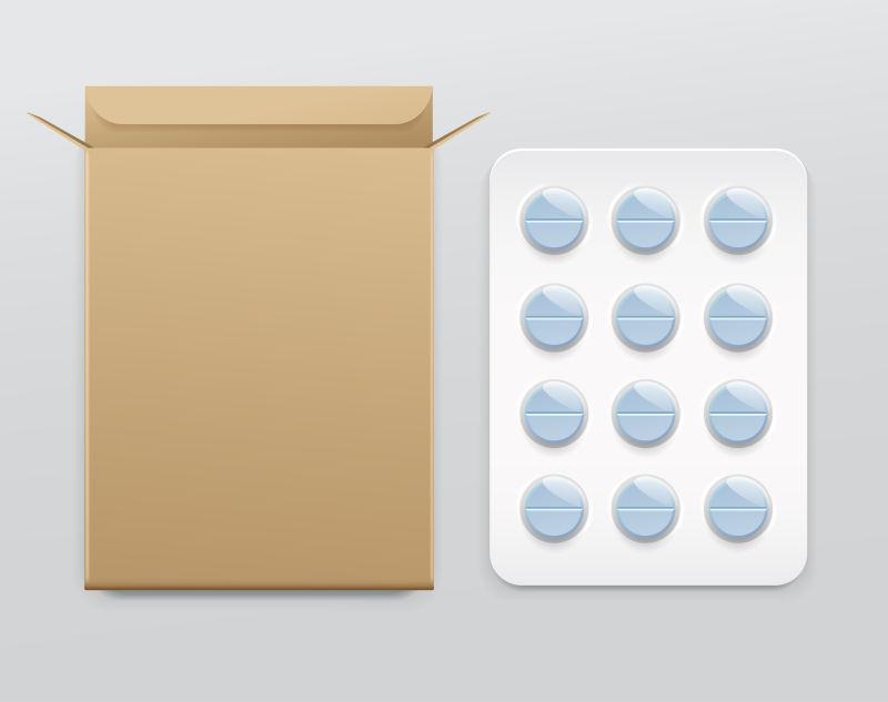 矢量泡罩包装中的药