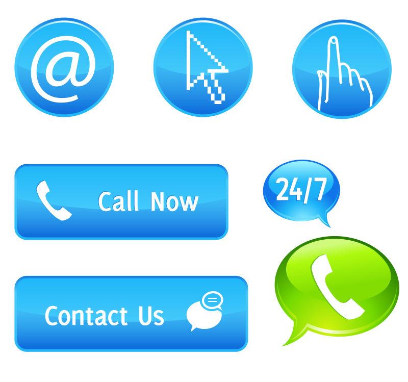 立即呼叫或联系我们按钮图标矢量