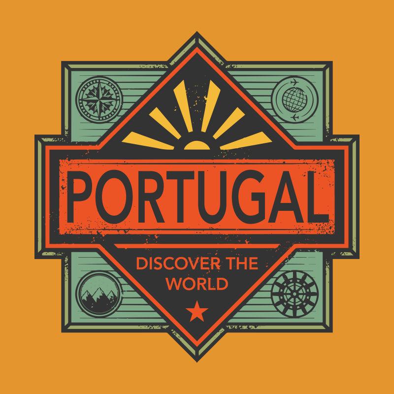 葡萄牙矢量徽章