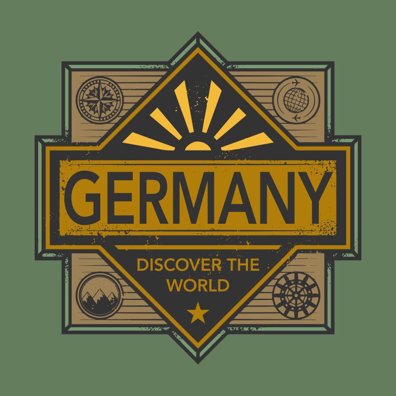 德国矢量徽章