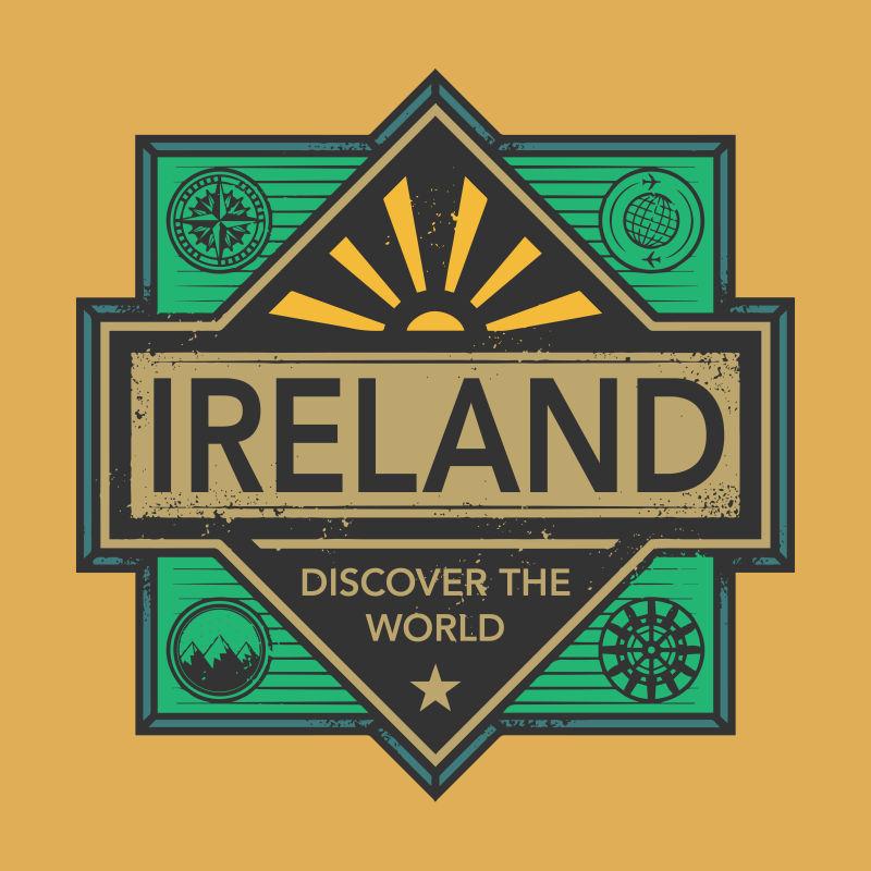 爱尔兰矢量徽章