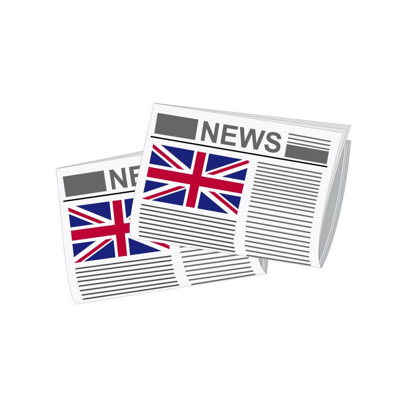 英国的矢量报纸图