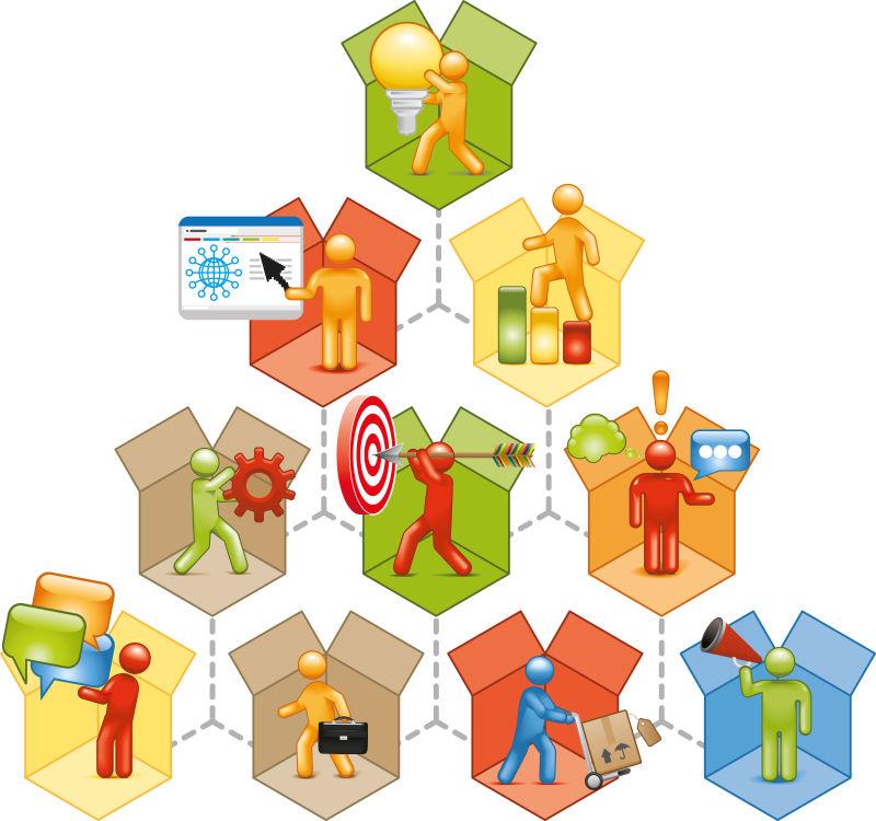 业务交付概念插图矢量设计
