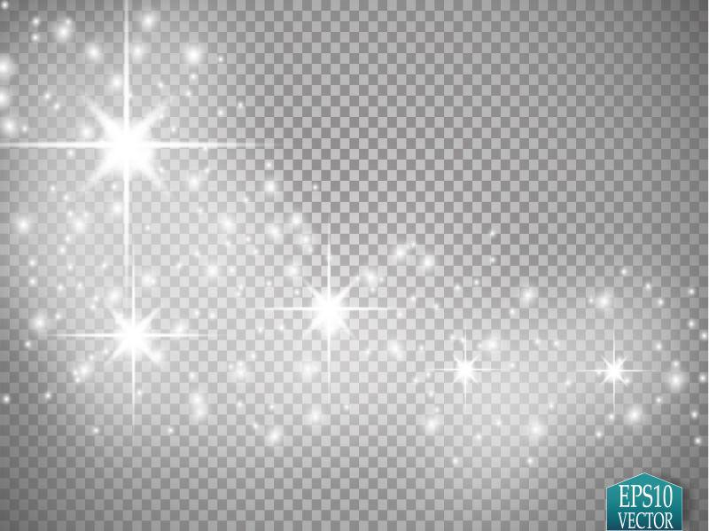 矢量抽象闪烁星光设计元素
