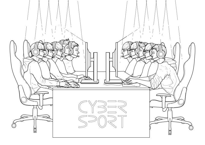 矢量网络体育赛事的矢量参与者