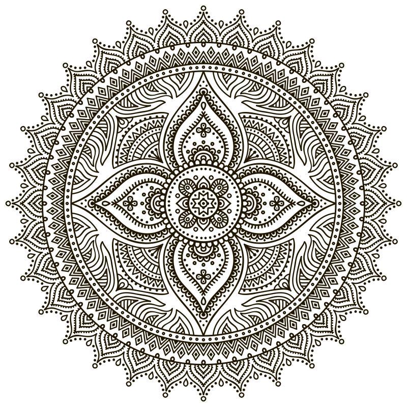 抽象矢量古典装饰纹样设计元素