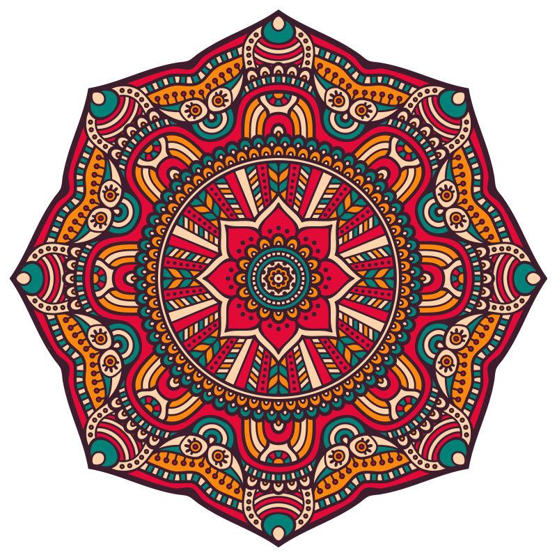 矢量民族风的装饰图案设计