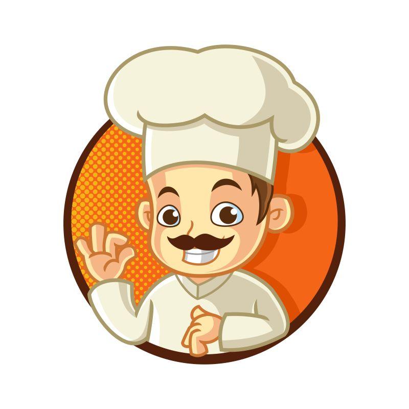 矢量的卡通厨师