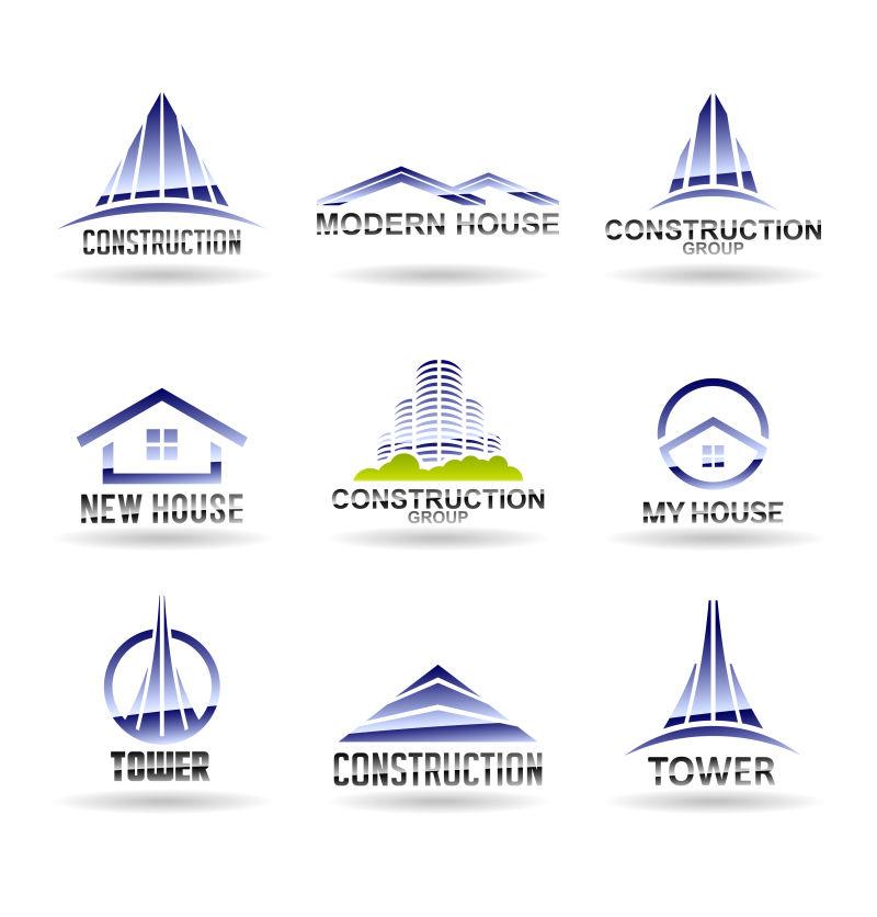 矢量的房地产中介标志