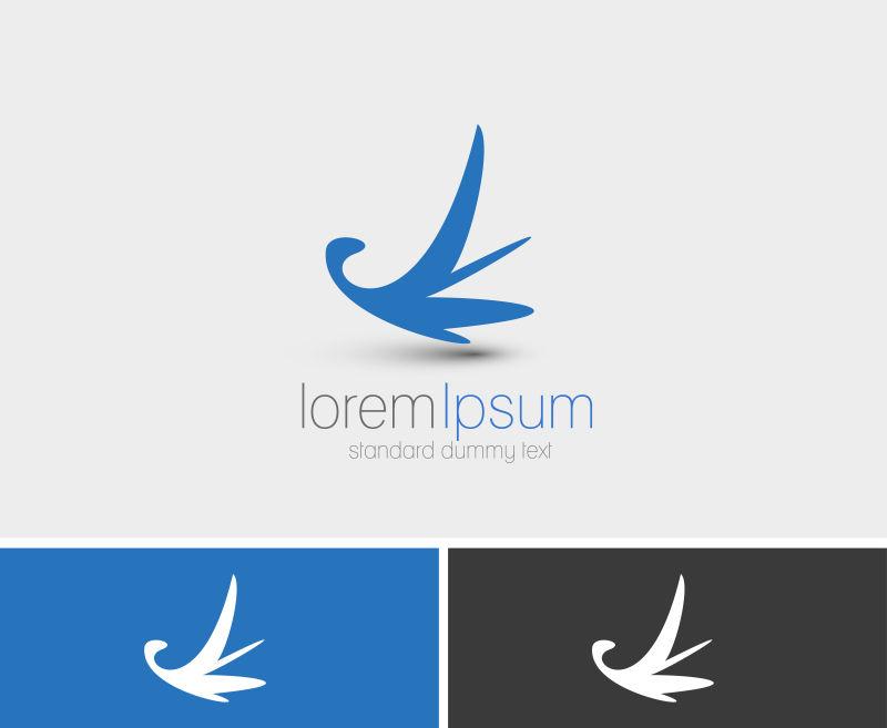 抽象矢量飞鸟元素标志设计