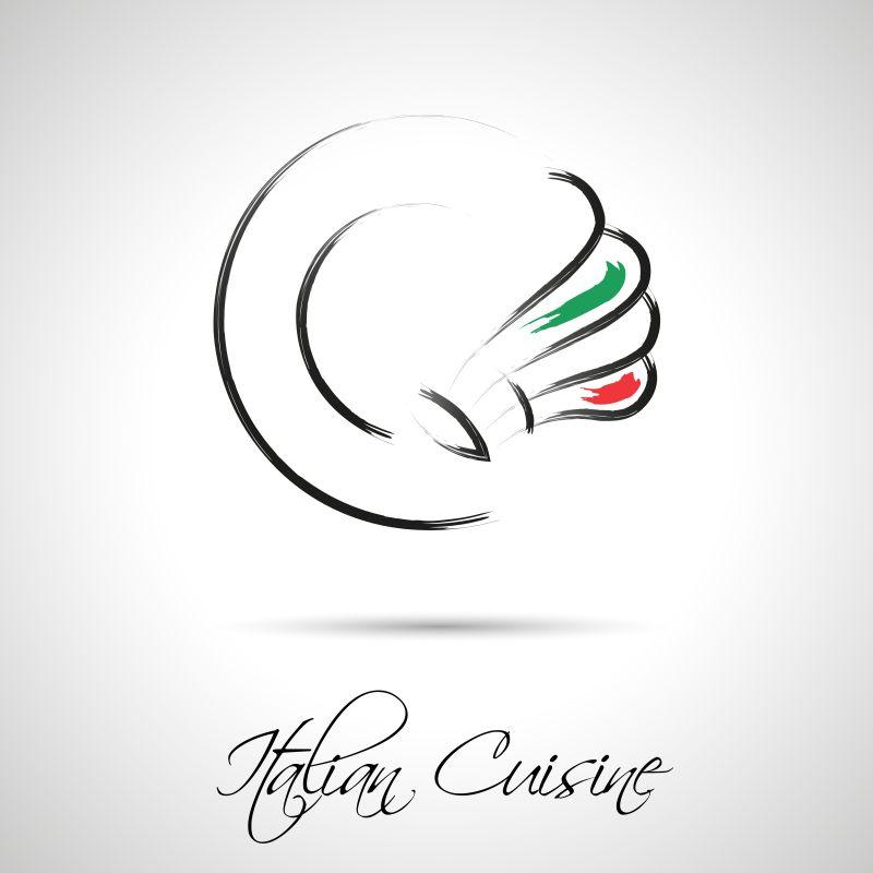 创意矢量意大利美食主题的标志设计