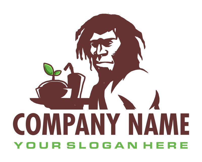 古代猿人标志矢量设计