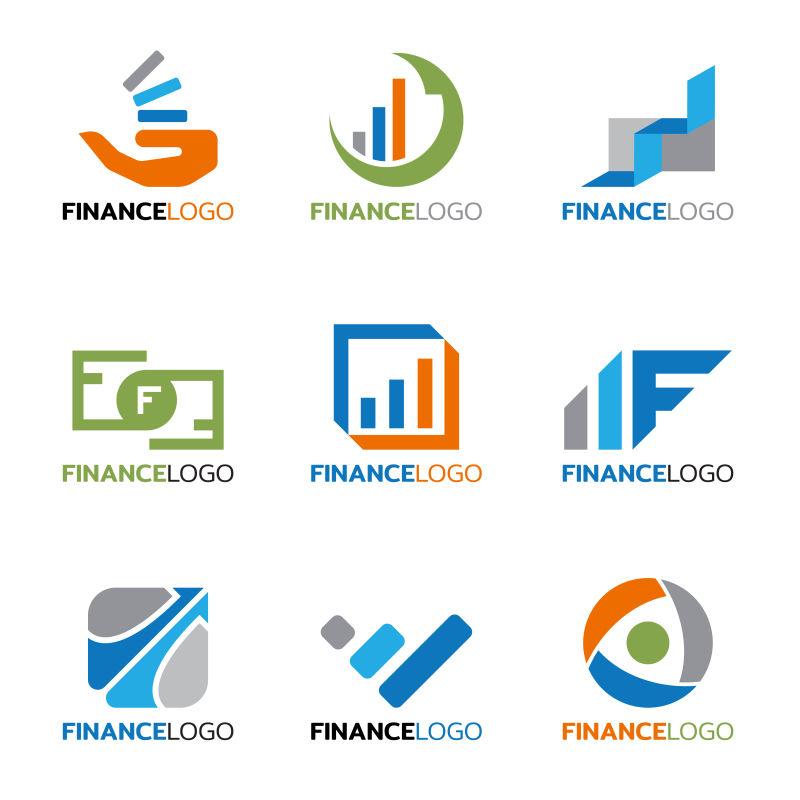 矢量的抽象金融标志