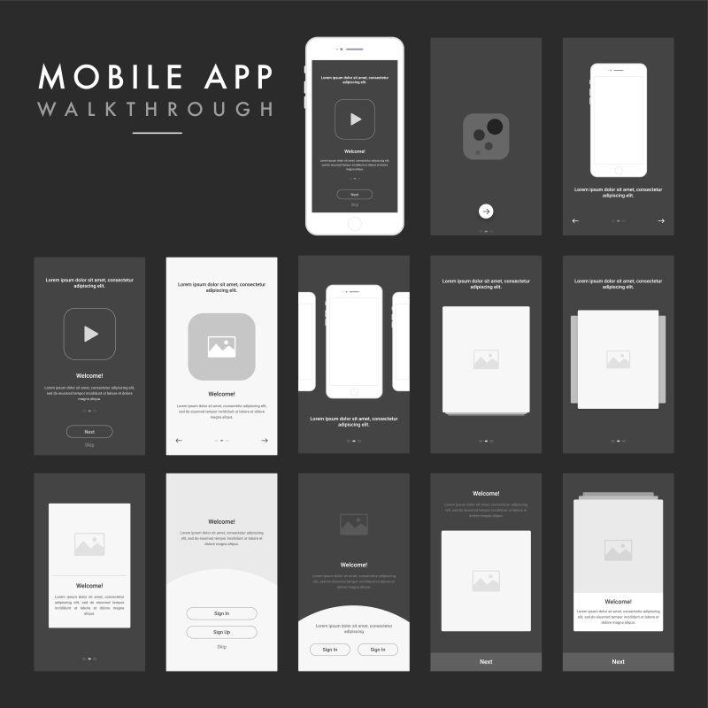 矢量的智能手机应用界面设计