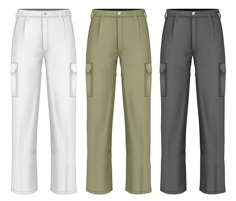 创意矢量男士裤子设计