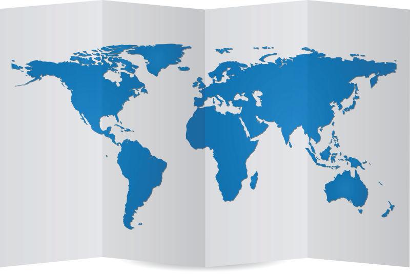 矢量世界地图和地球细节